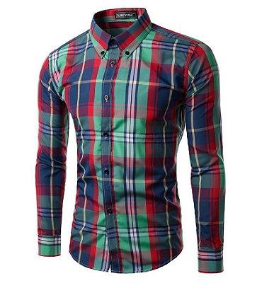 Camisa Masculina Xadrez - 15 cores