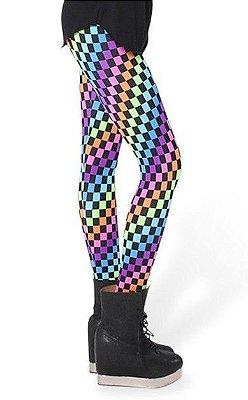 Legging Quadriculada Colorida