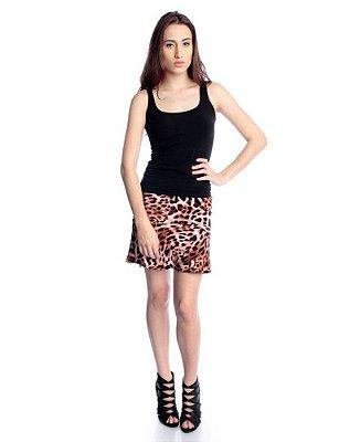 Saia Leopard Print Marrom