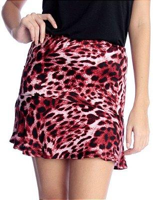Saia Leopard Print Vermelha