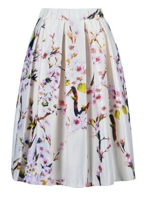 Saia Midi Floral - 3 cores