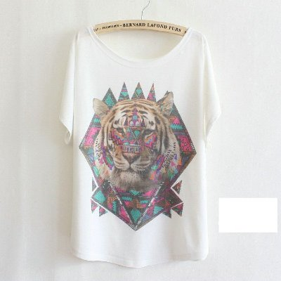 T-shirt Estampa de Tigre