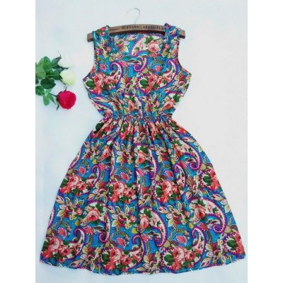 Vestido Acinturado Paisley Floral - 3 cores