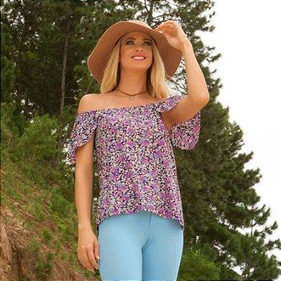 Blusa Floral Ciganinha