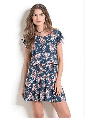 Vestido Floral com Mangas Soltinhas