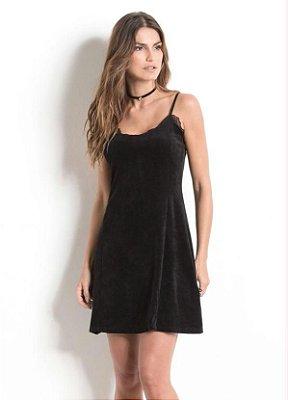 Vestido Slip Dress em Plush Preto