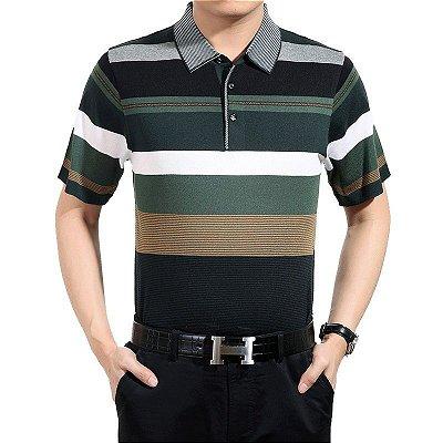 Camiseta Polo Listrada - 3 cores