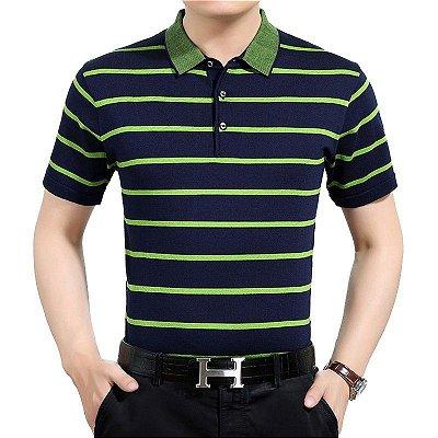 Camiseta Polo Masculina - 4 cores