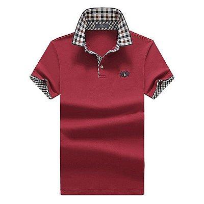 Camiseta Polo Gola Xadrez - 5 cores