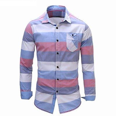 Camisa Listrada Masculina - 3 cores