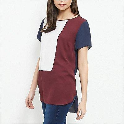 Blusa de Chiffon Geométrica - 5 cores