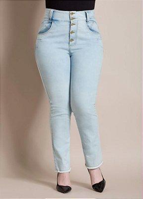 Calça com Barra Desfiada Jeans