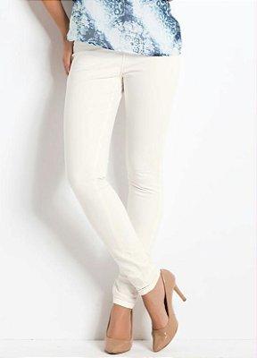 Calça Skinny Branca Cintura Alta