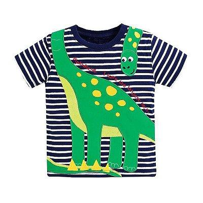 Camiseta Listrada Dinossauro