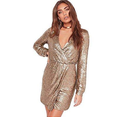 Vestido Golden Paetê