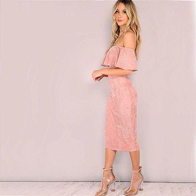 Vestido de Suede Rosa