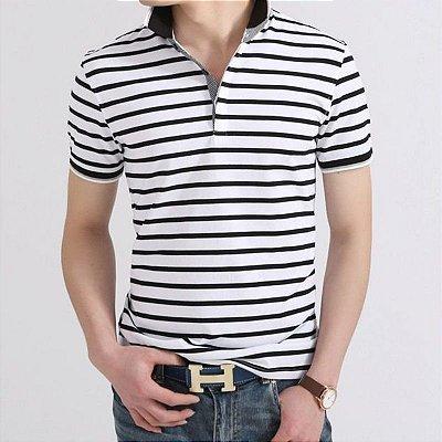 Camiseta Polo Listrada - 2 cores
