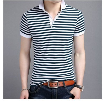 Camiseta Polo Striped - 2 cores