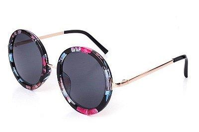Óculos de Sol Redondo Colorful