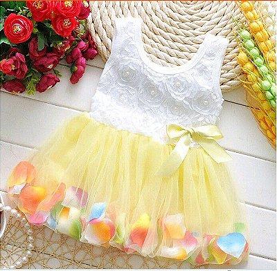 Vestido Pétalas - 7 cores