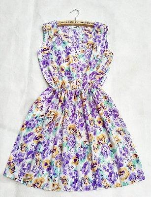 Vestido Acinturado Flores - 3 cores