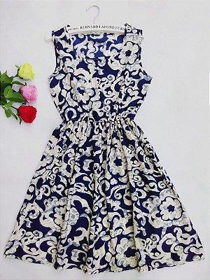 Vestido Acinturado Arabesco - 2 cores