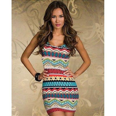 Vestido Tubinho Étnico - 4 cores