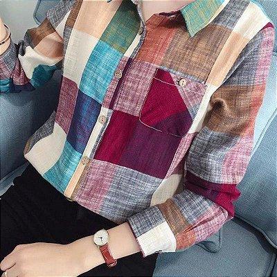 Camisa Xadrez Colorida - 2 cores