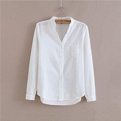 Camisa Texturizada Branca