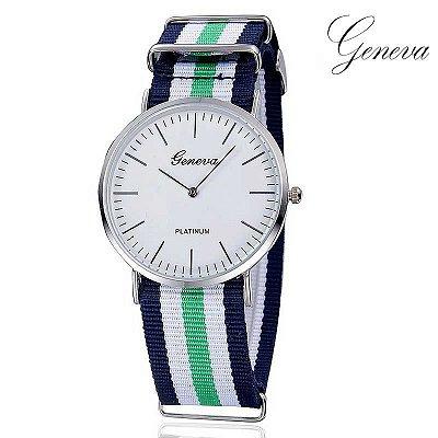 Relógio Stripes Geneva - 6 cores