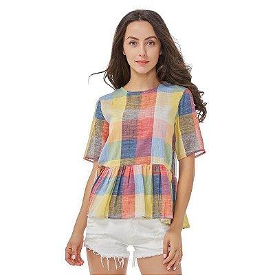 Blusa Quadriculada Colors