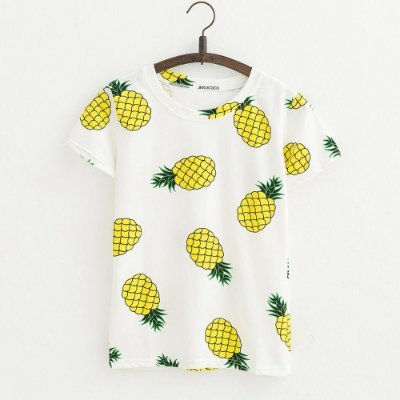 T-shirt Abacaxi - 2 cores