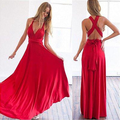 Vestido Longo Wrap - 20 cores