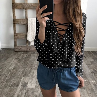 Blusa Poá Lace Up - 3 cores