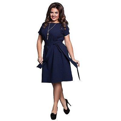 Vestido Amarração Plus Size - 3 cores