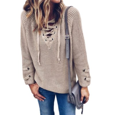 Suéter Lace Up - 3 cores