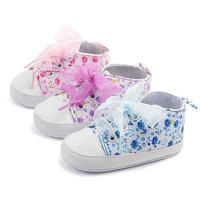 Tênis Lace Floral - 3 cores