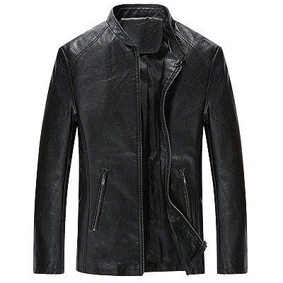Jaqueta de Couro Clássica - 3 cores