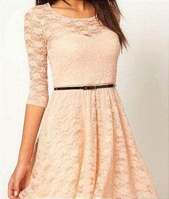 Vestido de Renda - 4 Cores