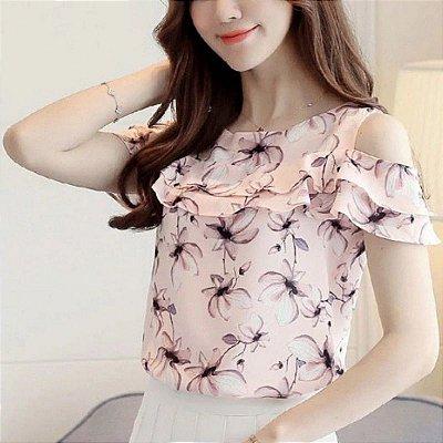 Blusa Shoulder Floral - 2 cores