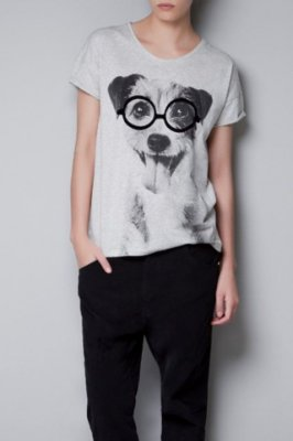 T-shirt Dog Glasses