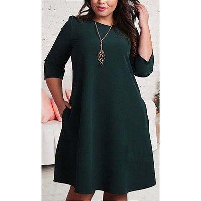 Vestido Solto Verde Plus Size