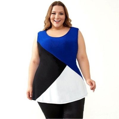 Blusa Recortes Plus Size
