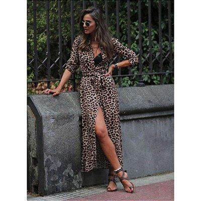 Vestido Midi Leopardo