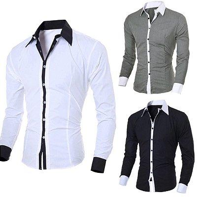 Camisa Masculina Casual - 5 cores