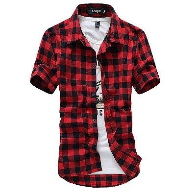 Camisa Xadrez Manga Curta - 3 cores