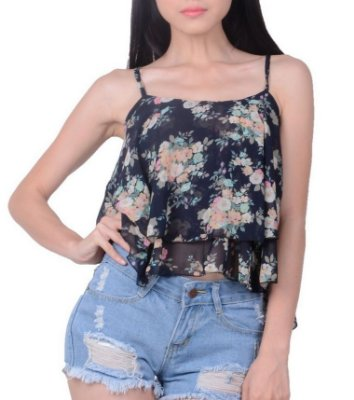Cropped Floral - 5 cores