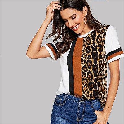 T-shirt Leopardo - 3 cores
