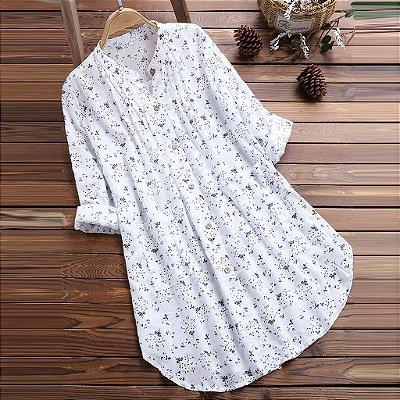 Camisa Plissada Linho - 3 Cores