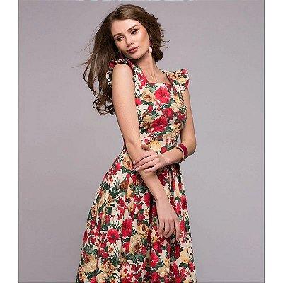 Vestido Floral Longo - 3 cores